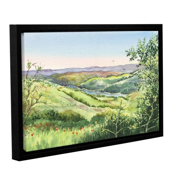 ArtWall 'Irina Sztukowski's Inspiration Point' Gallery Wrapped Floater-framed Canvas