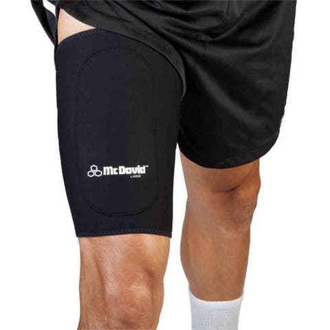 McDavid Classic 472 Level 1 Thigh Sleeve with Anterior Patch (Black)
