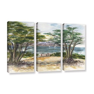 ArtWall 'Irina Sztukowski's Carmel By The Sea' 3-piece Gallery Wrapped Canvas Set