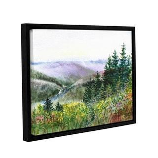 ArtWall 'Irina Sztukowski's Redwood Creek' Gallery Wrapped Floater-framed Canvas