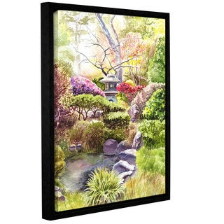 ArtWall 'Irina Sztukowski's Japanese Garden' Gallery Wrapped Floater-framed Canvas