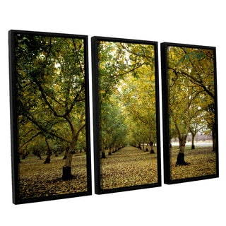 ArtWall 'Kathy Yates's Fall Orchard' 3-piece Floater Framed Canvas Set