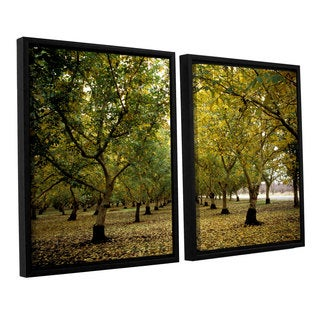 ArtWall 'Kathy Yates's Fall Orchard' 2-piece Floater Framed Canvas Set
