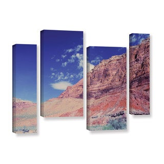 ArtWall 'Dan Wilson's Utah-Paria Canyon' 4-piece Gallery Wrapped Canvas Staggered Set
