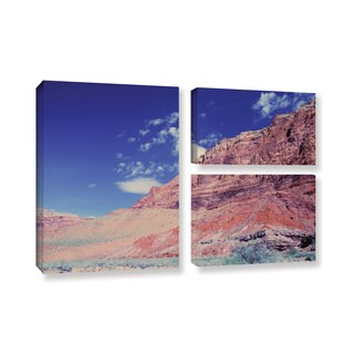 ArtWall 'Dan Wilson's Utah-Paria Canyon' 3-piece Gallery Wrapped Canvas Flag Set