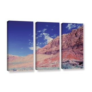 ArtWall 'Dan Wilson's Utah-Paria Canyon' 3-piece Gallery Wrapped Canvas Set
