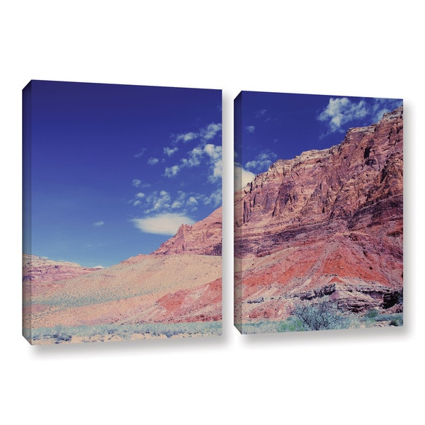 ArtWall 'Dan Wilson's Utah-Paria Canyon' 2-piece Gallery Wrapped Canvas Set