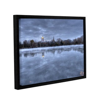 ArtWall 'Dan Wilson's The Basilica-Notre Dame' Gallery Wrapped Floater-framed Canvas