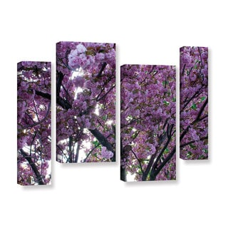 ArtWall 'Dan Wilson's Spring Flowers' 4-piece Gallery Wrapped Canvas Staggered Set