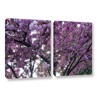 ArtWall 'Dan Wilson's Spring Flowers' 2-piece Gallery Wrapped Canvas Set