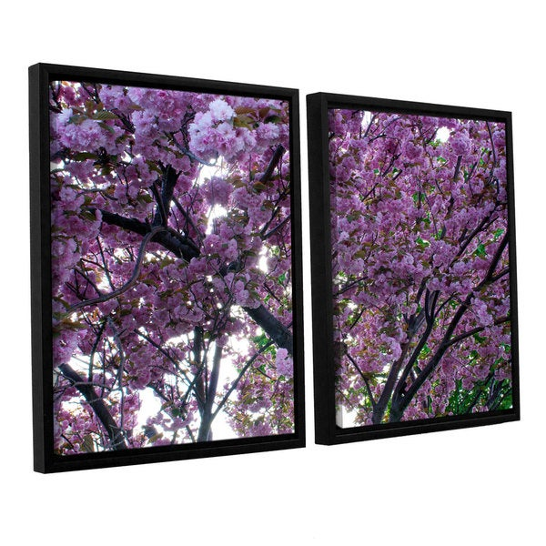 ArtWall 'Dan Wilson's Spring Flowers' 2-piece Floater Framed Canvas Set