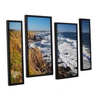 ArtWall 'Dan Wilson's Sonoma Coast' 4-piece Floater Framed Canvas Staggered Set - Multi