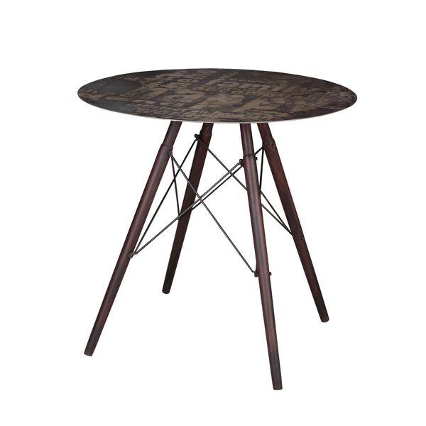 Aurelle Home Anthony Grey Industiral Vintage Cafe Table
