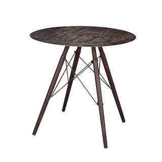 Aurelle Home Anthony Grey Industiral Vintage Cafe Table