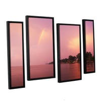 ArtWall 'Dan Wilson's Rainbows and Lightning' 4-piece Floater Framed Canvas Staggered Set - Multi