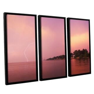 ArtWall 'Dan Wilson's Rainbows and Lightning' 3-piece Floater Framed Canvas Set