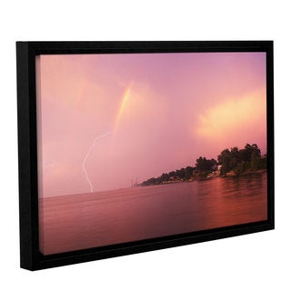 ArtWall 'Dan Wilson's Rainbows and Lightning' Gallery Wrapped Floater-framed Canvas