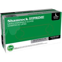 Shamrock Supreme Latex Disposable Gloves Powder-Free Textured (Case of 1000)