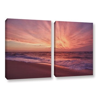 ArtWall 'Dan Wilson's Outer Banks Sunset III' 2-piece Gallery Wrapped Canvas Set