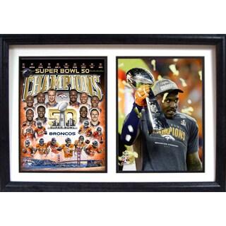 Super Bowl 50 MVP Von Miller 12 x 18 Double Frame