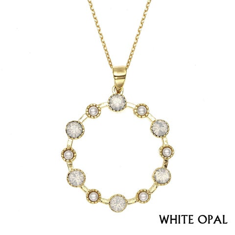 Isla Simone - Gold Plated Large Station Necklace with Austrian Crystal