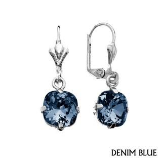 Isla Simone - Gold or Rhodium Plated Emerald Cut Austrian Crystal Earring