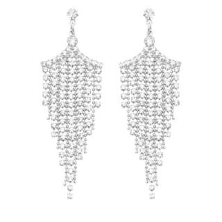 Isla Simone - Crystal Fringe Chandelier Earring