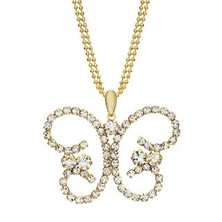 Isla Simone - Butterfly Crystal Necklace