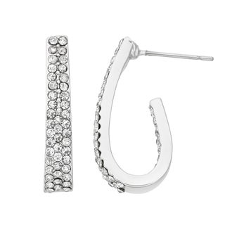 Isla Simone - Inside Out Crystal Tapered Oval Earring