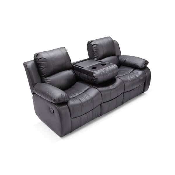 Madison Faux Leather Reclining Sofa And Loveseat Set