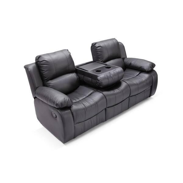 Shop Madison Bonded Leather Reclining Sectional Sofa Set ...