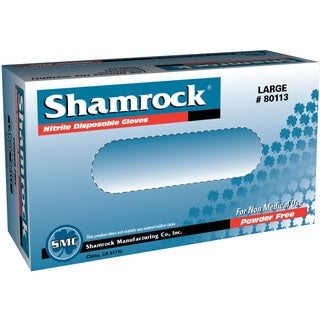 Shamrock Nitrile Disposable Gloves Powder-Free Textured Blue (Case of 1000)