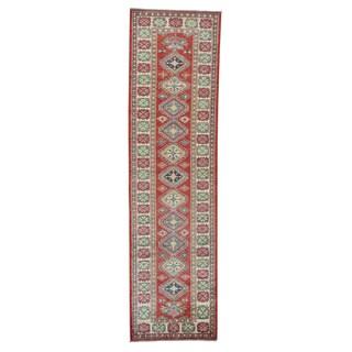 Red Super Kazak Pure Wool Hand-knotted Oriental Runner Rug (2'9 x 10')