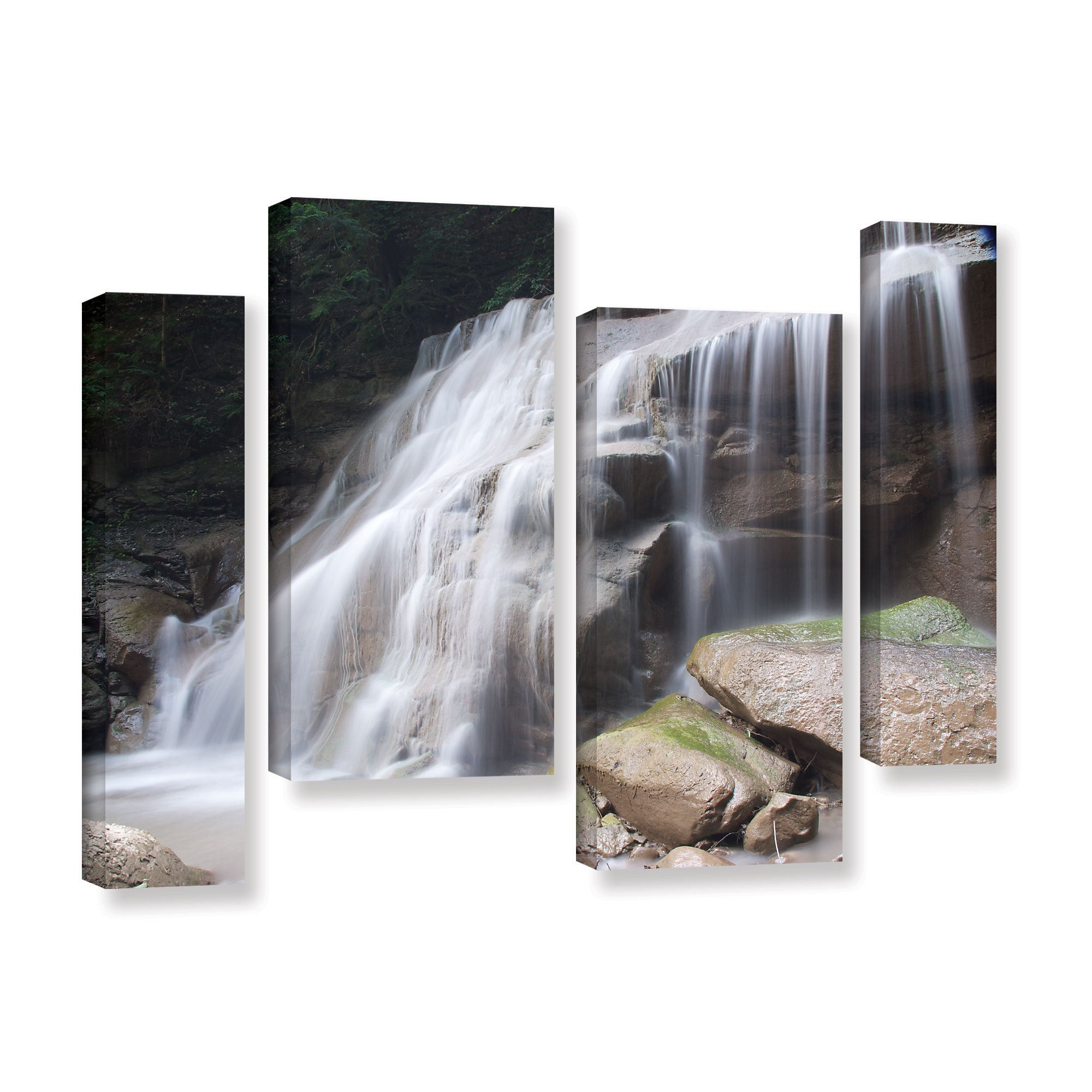 Artwall Dan Wilson S New York Rattlesnake Gulf Waterfall 4 Piece Gallery Wrapped Canvas Staggered Set Multi On Sale Overstock 11370229