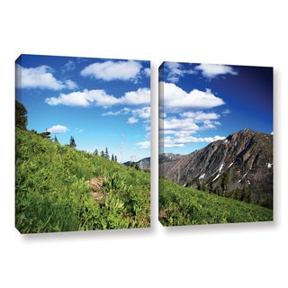 ArtWall 'Dan Wilson's Mountain Meadow' 2-piece Gallery Wrapped Canvas Set