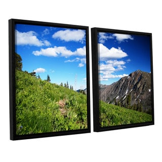 ArtWall 'Dan Wilson's Mountain Meadow' 2-piece Floater Framed Canvas Set