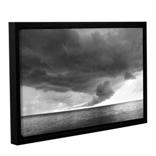 ArtWall 'Dan Wilson's Lake Erie Storm' Gallery Wrapped Floater-framed Canvas