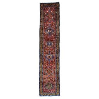 Antique Persian Heriz XL Full Pile Handmade Runner Rug (3'1 x 14'6)