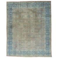 Antique Persian Tabriz Even Wear Gallery Size Rug - 12'5 x 15'4