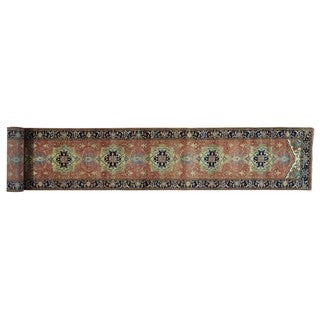 XL Handmade Antiqued Serapi Heriz Recreation Runner Rug (2'6 x 19'8)