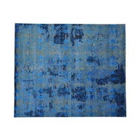 Broken Design Wool and Silk Hand-knotted Oriental Rug (8'5 x 10')