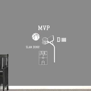 Basketball Small Wall Decal Set