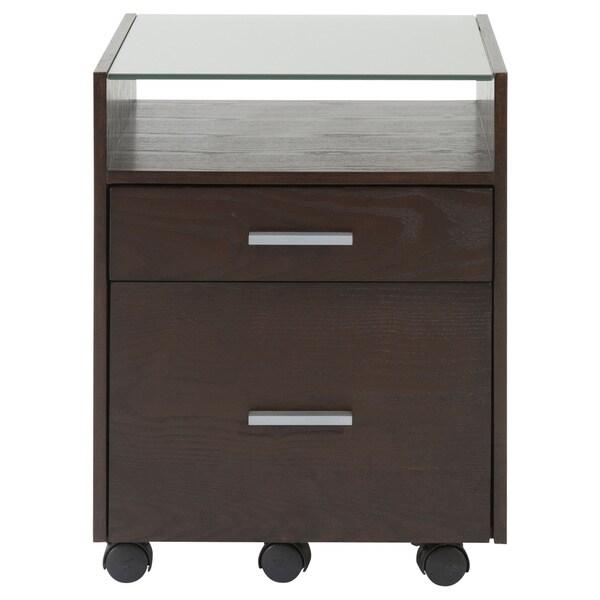 Ballard File Cabinet - Wenge/Silver