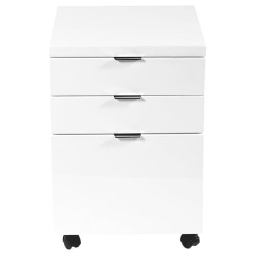 Gilbert File Cabinet White Lacquer
