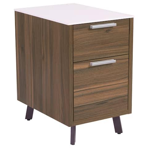 Hart 2-Drawer File Cabinet - White/Walnut