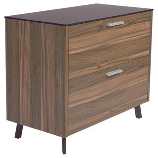 Hart Lateral File Cabinet -Black/Walnut