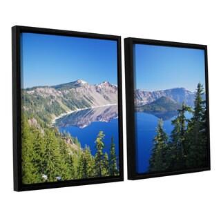 ArtWall 'Dan Wilson's Crater Lake' 2-piece Floater Framed Canvas Set