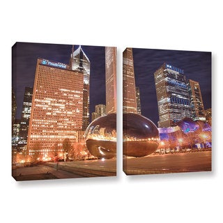 ArtWall 'Dan Wilson's The Bean I' 2-piece Gallery Wrapped Canvas Set