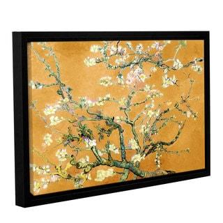 ArtWall 'Vincent VanGogh's Almond Blossom-Interpretation in Merigold Orange' Gallery Wrapped Floater-framed Canvas