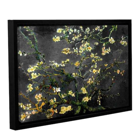 ArtWall Vincent van Gogh's 'Almond Blossom-Interpretation in Dahilia Black' Gallery Wrapped Canvas